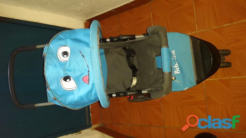 Coche bebesito individual azul