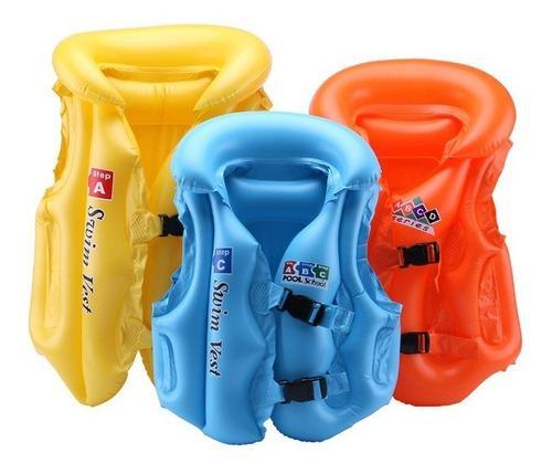 Chaleco salvavida-flotador inflable niños entre 2 a 12años