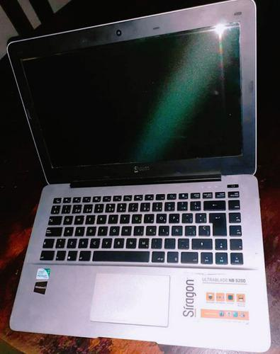 Laptop siragon ultrablade nb 3200 para repuestos o reparar