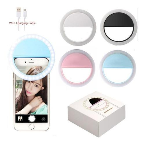 Aro de luz selfie ring led iphone android recargable usb