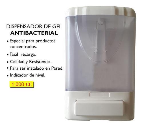 Dispensador de gel antibacterial y jabón liquido 1.000.cc