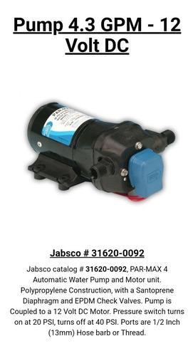 Bomba agua dulce marina jabsco parmax4 12 vdc 4,3gpm oferta
