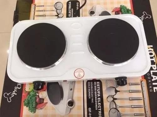 Cocina electrica 2 hornillas 2000w nuevas espiral o lisa