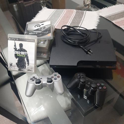 Playstation 3, incluye 7 juegos + 2 controles