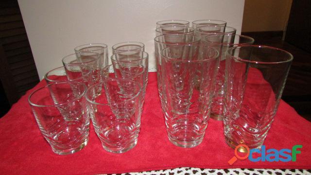 Set de Vasos Cortos Y Largos   Cristal 1