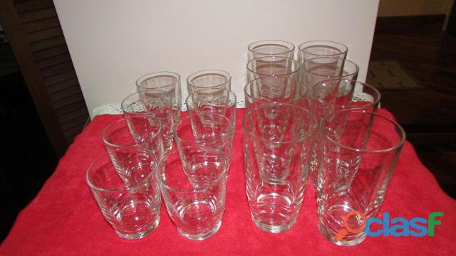 Set de Vasos Cortos Y Largos   Cristal 2