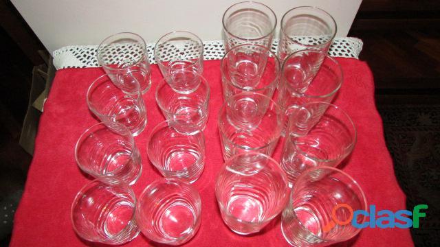 Set de Vasos Cortos Y Largos   Cristal 3