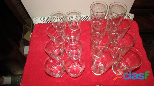 Set de Vasos Cortos Y Largos   Cristal 4