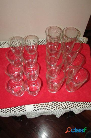 Set de Vasos Cortos Y Largos   Cristal 5