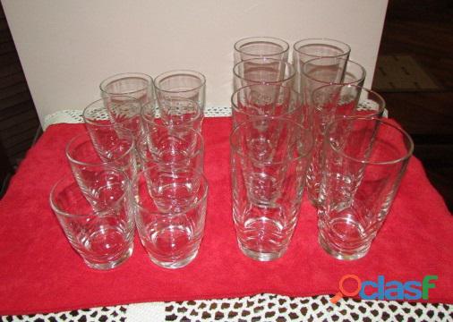 Set de Vasos Cortos Y Largos   Cristal 7