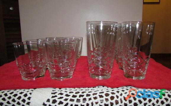 Set de Vasos Cortos Y Largos   Cristal 8