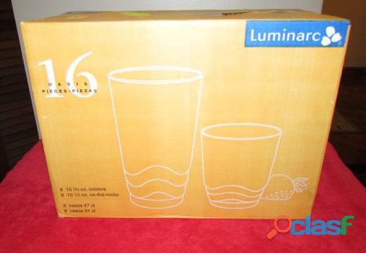 Set de Vasos Cortos Y Largos   Cristal 9