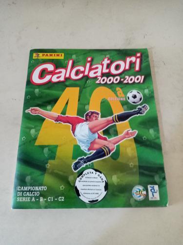 Album futbol calciatori panini la liga italiana 2000-2001