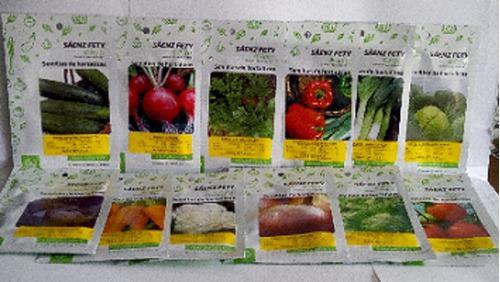 Semillas para huertos caseros packs 8 sobres pequeños