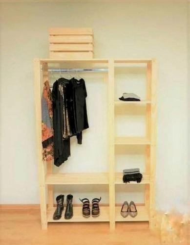 Closet en madera pino práctico y resistente