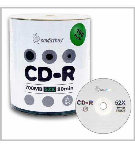 Cd virgen smartbuy original 700mb 80min velocidad 52x 100