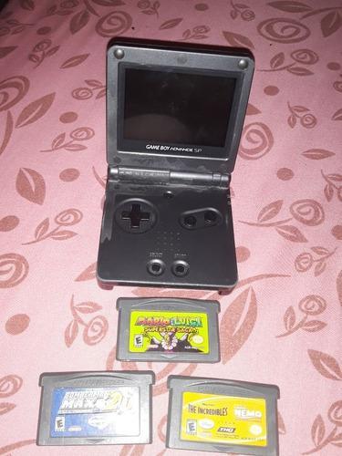 Game Boy Advance Sp Con Tres Juegos