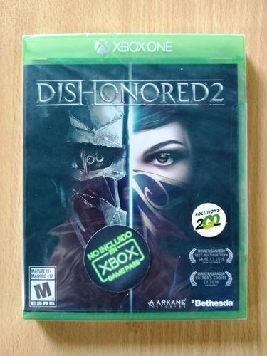 Juego xbox one dishonored 2 nuevo sellado