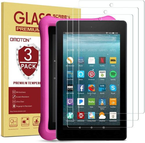 Protector de pantalla tablet amazon fire 7 vidrio templado