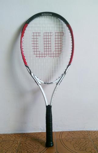 Raqueta de tenis wilson titanium