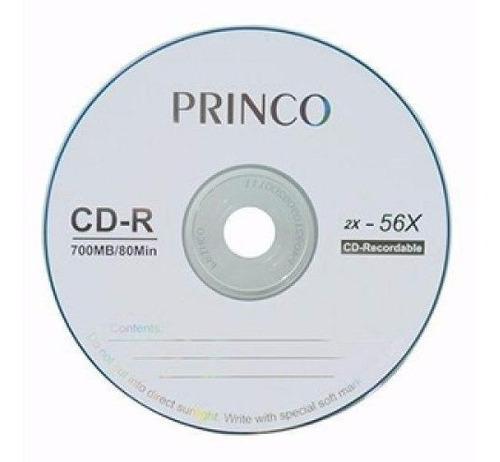 Torre de cd-r princo 700mb 80min 2x 56x caja de 50cds