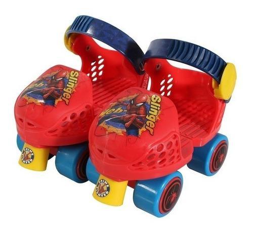 Patines 4 ruedas ajustable spidermar combo con rodilleras