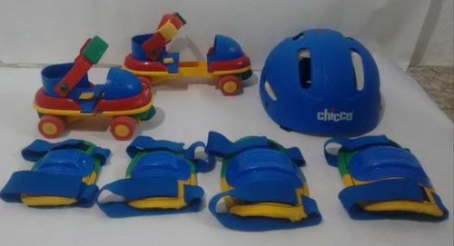 Patines 4 ruedas para niños ajustable t26 a 32 marca chicco