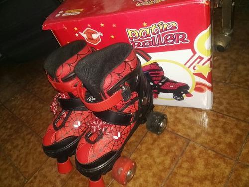 Patines del hombre araña spider man para niños talla 31-34