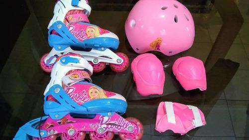 Patines para niño y niña marca barbie, princesa, mickey