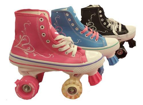 Patines tipo zapatos para niñas resistentes supereconomicos