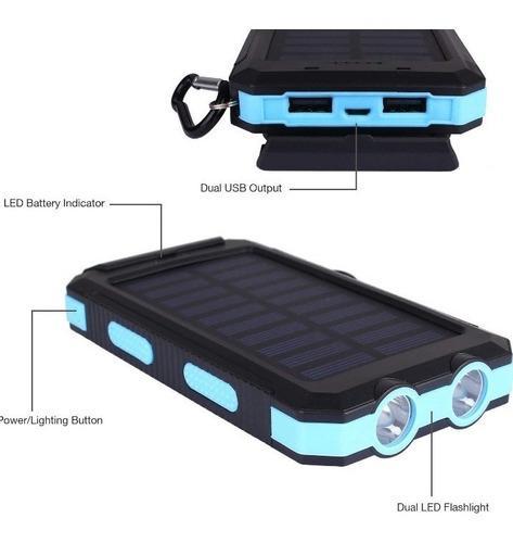 Smart power bank 24000mah impermeable con cargador solar