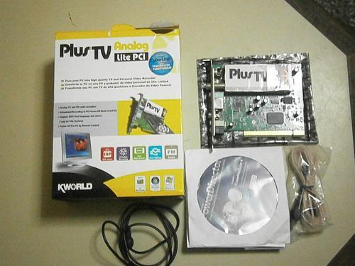 Tarjeta captadora analog. pci plus tv