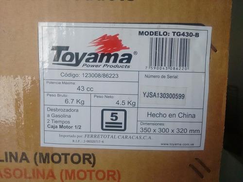 Desmalezadora toyama tg-430b motor 43cc 2 tiempos
