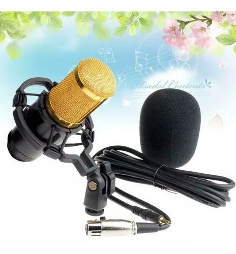 Kit de micrófono condensador bm 800 para estudio grabación