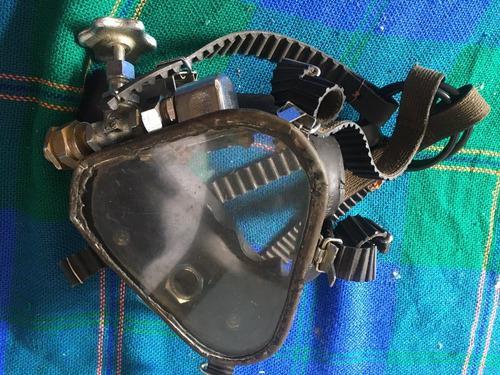 Mascara profesional de buceo vintage para exhibicion usada