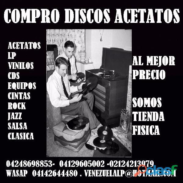 SE COMPRAN DISCOS LP ACETATOS, DISCOS, VINILES, EQUIPOS, CINTAS, MUSICA AL MEJOR PRECIO SOMOS TIENDA