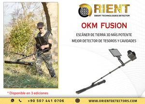 Okm fusion, el detector de metales y el escáner terrestre