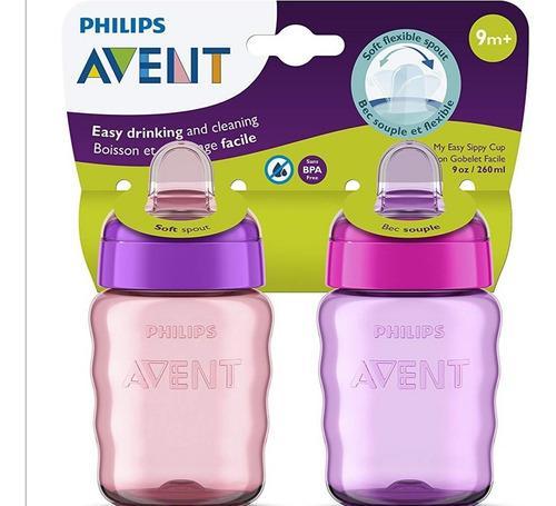 Vaso para bebe avent de philips, 2 piezas 9 oz