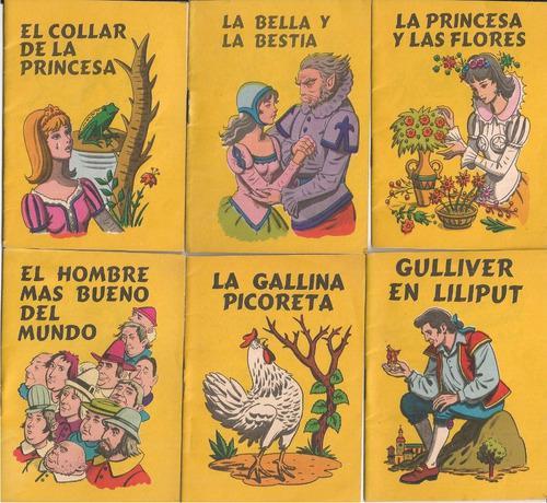 37 cuentos infantiles ilustrados en miniatura rara