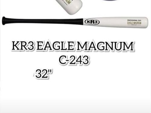 Bate kr3 c243 egle magnum blanco con negro 32 33 33.5 34