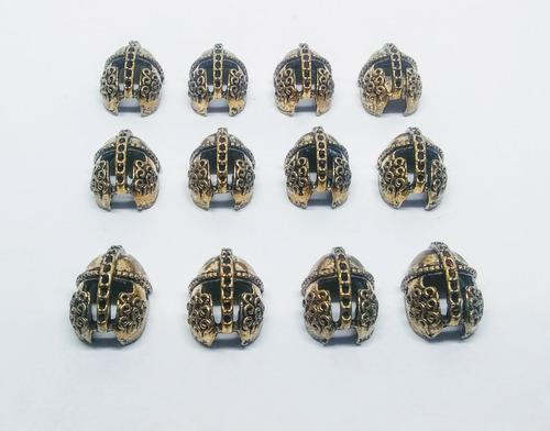 Dije casco bronce 11 * 16 mm set 3 unidades