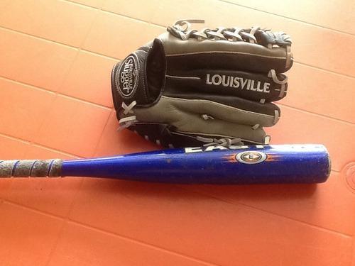 Guante De Béisbol Louisville 12 Y Bate De 24 Easton