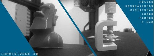 Impresión 3d: decoraciones logos miniaturas forros y mas