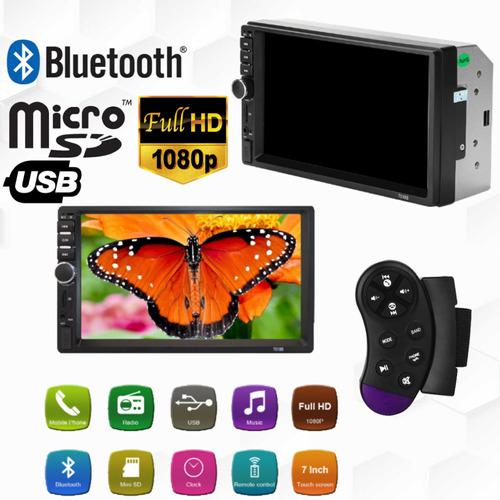 Reproductor Pantalla Mp5 Doble Din 7 Bluetooth Control Usb