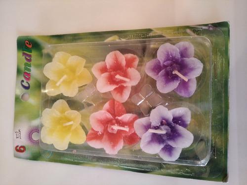 Velas Flotantes Paquete De 6 Flores