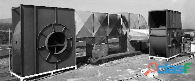 Extractor inyector industrial axial centrifugo helicoidal campanas ventilacion ducteria ventilador