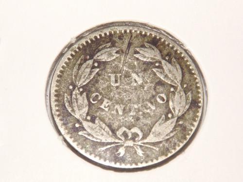 Antigua moneda de un 1 centavo. año 1.876. venezuela