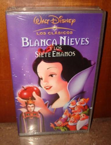 Blanca nieves película disney original vhs nueva ref.10