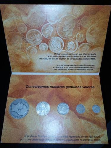 Coleccion numismatica monedas de plata venezolanas unibanca