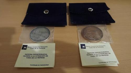Combo monedas: plata y bronce. venezuela. casa de la moneda